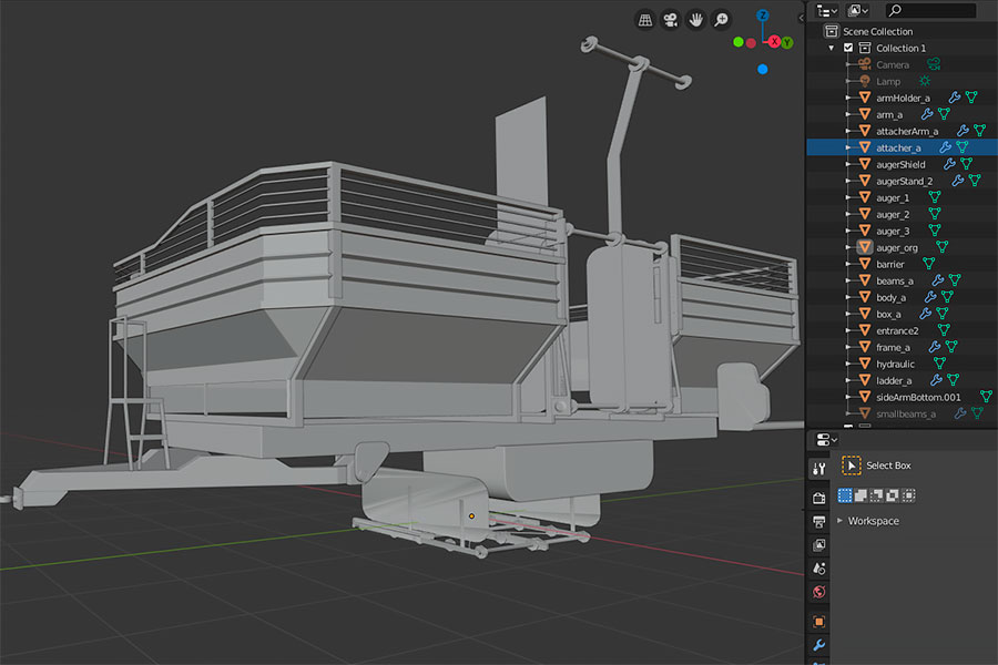 Farming Simulator 22 mods with Blender